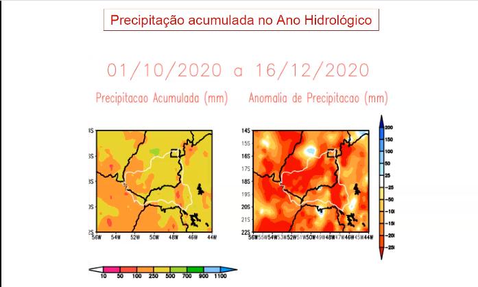 Bacia do Paranaíba apresenta chuvas e reservatórios abaixo da média