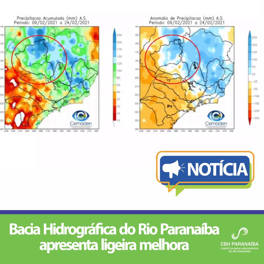 Bacia Hidrográfica do Rio Paranaíba apresenta ligeira melhora