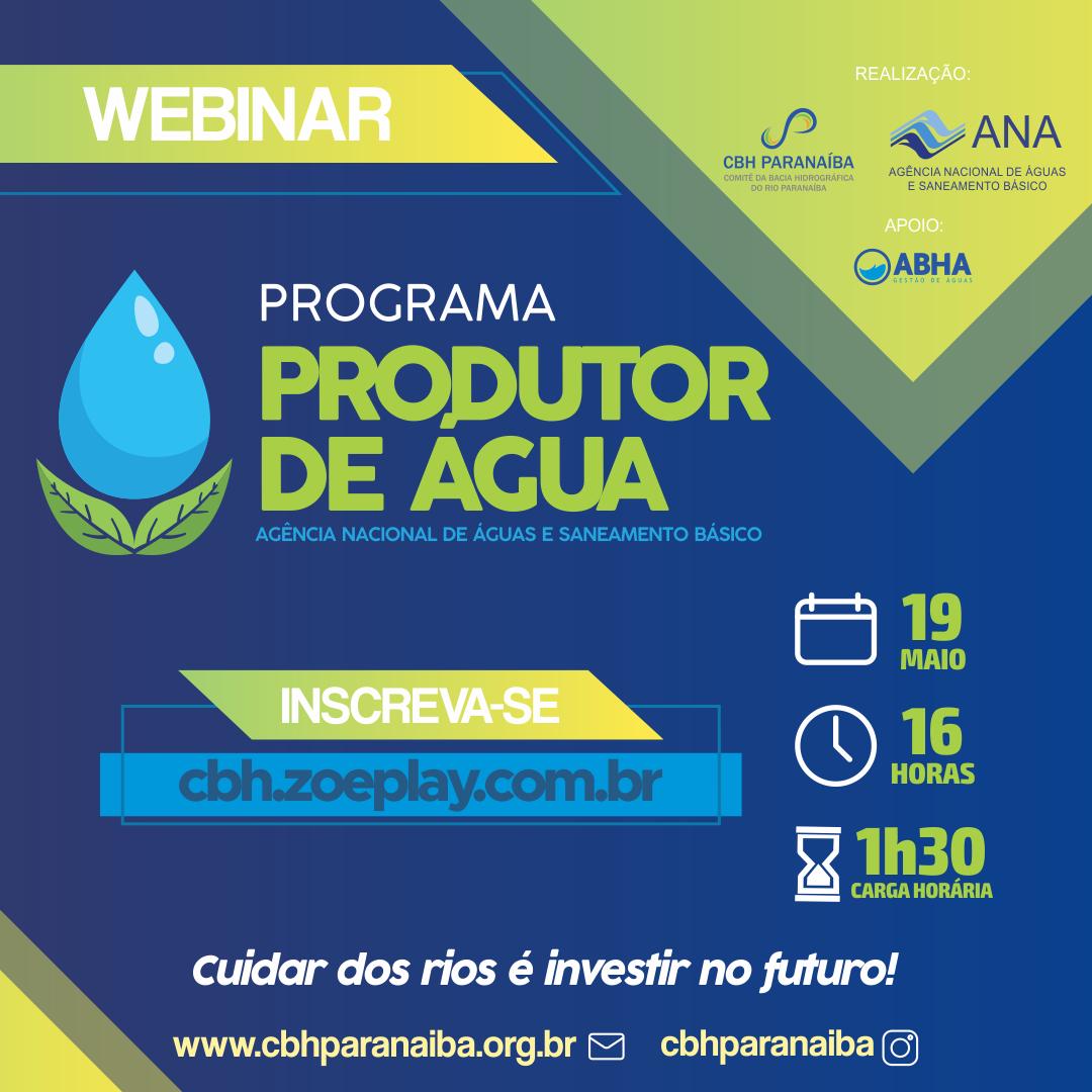 ANA e CBH Paranaíba promovem capacitação do Programa Produtor de Água
