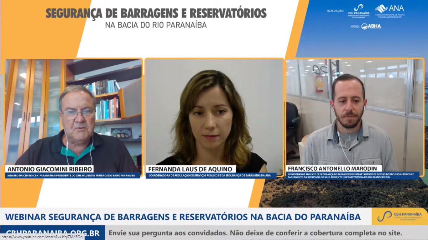 Segurança de Barragens e Reservatórios é tema de webinar promovido pelo CBH Paranaíba