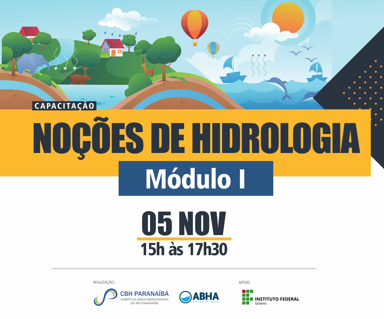 CBH Paranaíba promove capacitação sobre Noções em Hidrologia